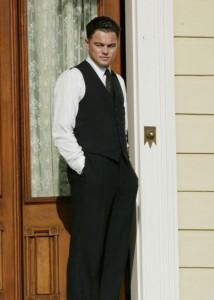 Leonardo DiCaprio on the set of 'J. Edgar'