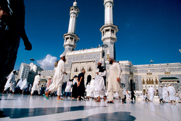 Pilgrims near the Great Mosque.