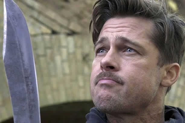 Brad Pitt em cena de Bastardos Inglórios, de Quentin Tarantino