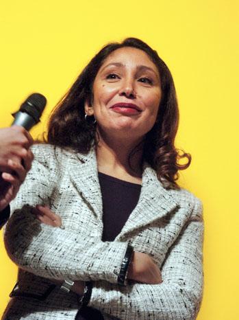 Saudi director Haifaa Al-Mansour is seen