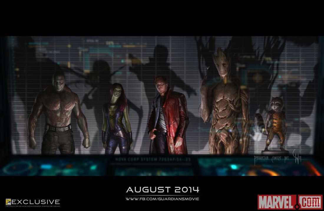 guardiões da galaxia poster