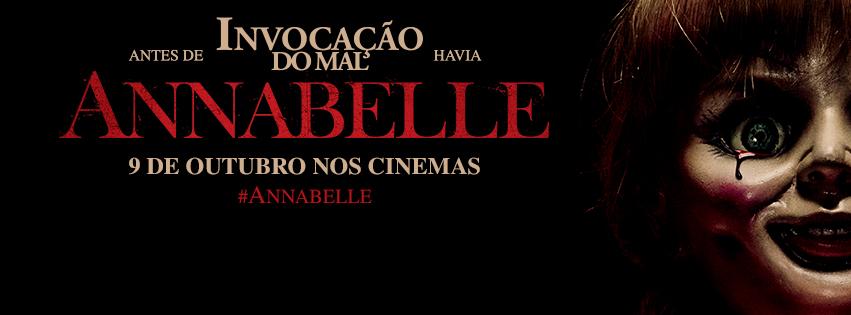 Banner Annabelle estreia 9 de outubro