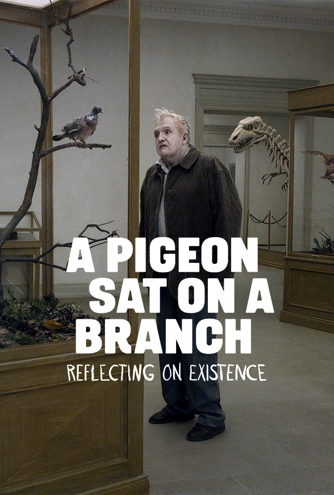 Poster Um Pombo Pousou Num Galho Refletindo Sobre a Existência