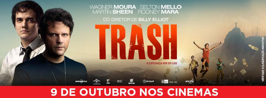 banner trash estreia 9 de outubro