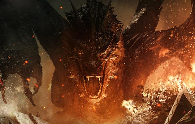 Smaug Hobbit Batalha dos Cinco Exércitos