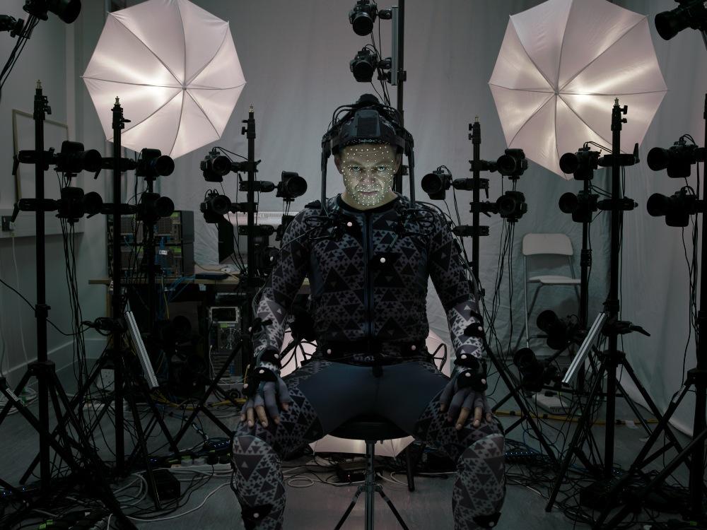 Andy Serkis capturando movimento Star Wars
