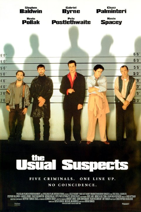 Poster The Usual Suspects Os Suspeitos 1995