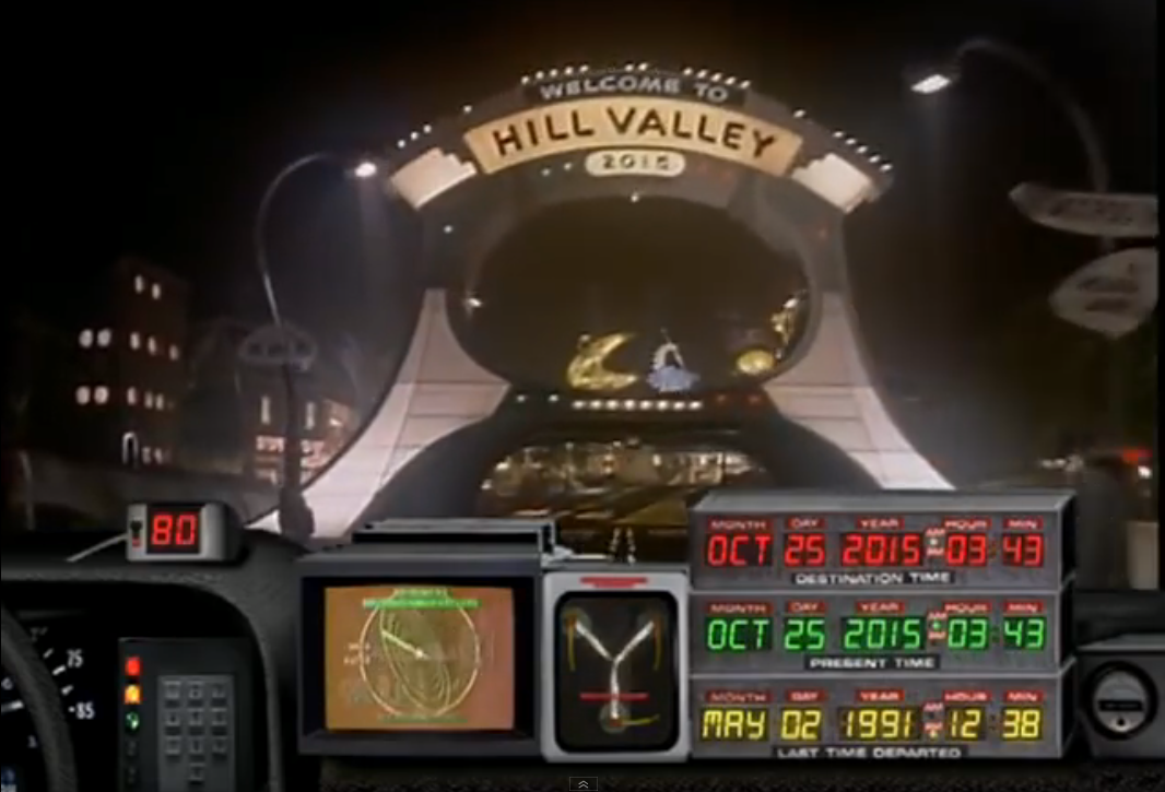 Back to the Future Ride – Hill Valley 2015