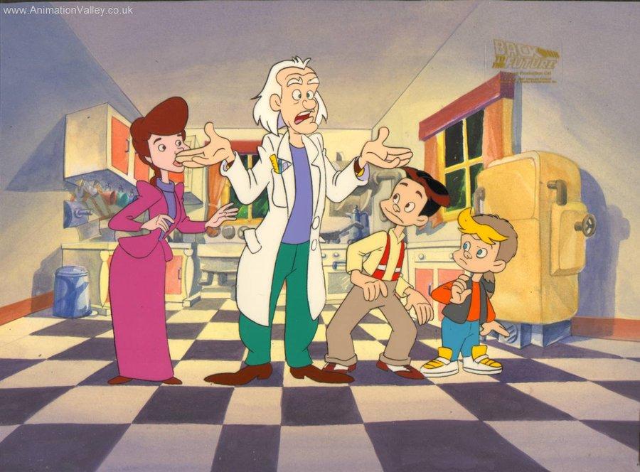 De Volta Para o Futuro – série animada – família Brown