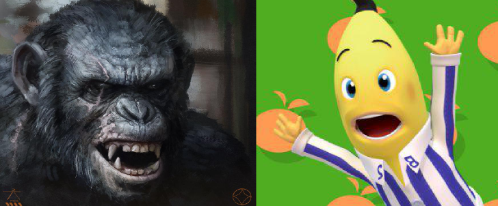 Mesa de Bar – Planeta dos Macacos vs Bananas de Pijamas
