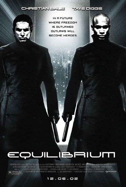 Equilibrium poster – filmes sci-fi dos anos 2000