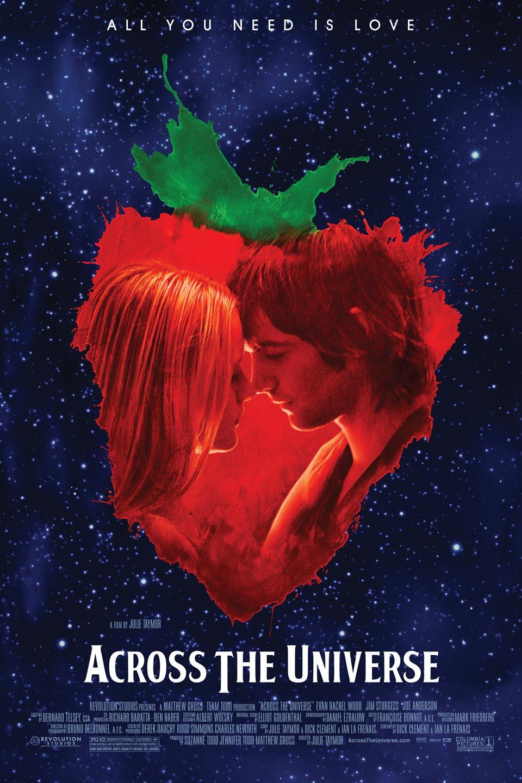 Poster Across the Universe – Melhores filmes de romance dos anos 2000