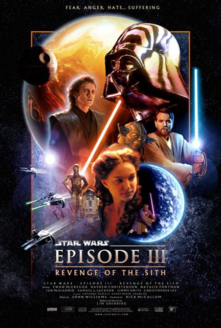 Poster Filmes sci-fi dos anos 2000 – Star Wars Episode III
