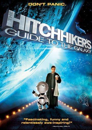 Poster O Guia do Mochileiro das Galaxias – Melhores filmes de ficcao cientifica dos anos 2000