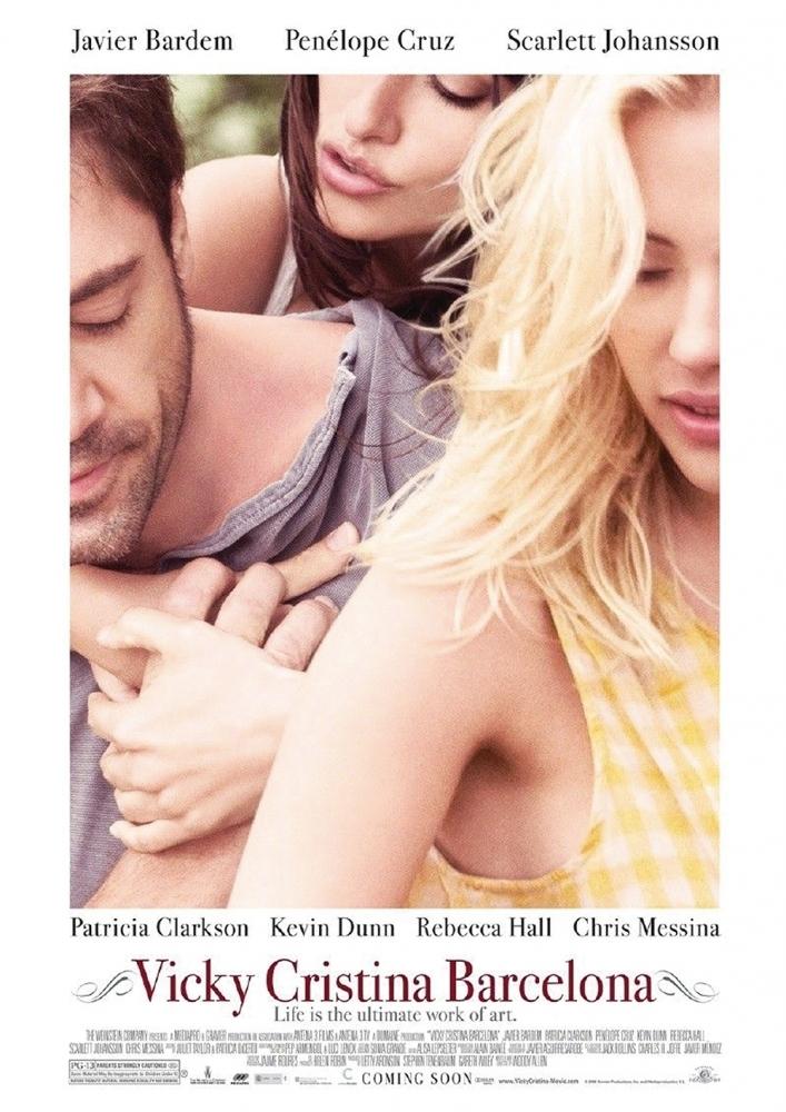Poster Vicky Cristina Barcelona – Melhores filmes de romance dos anos 2000