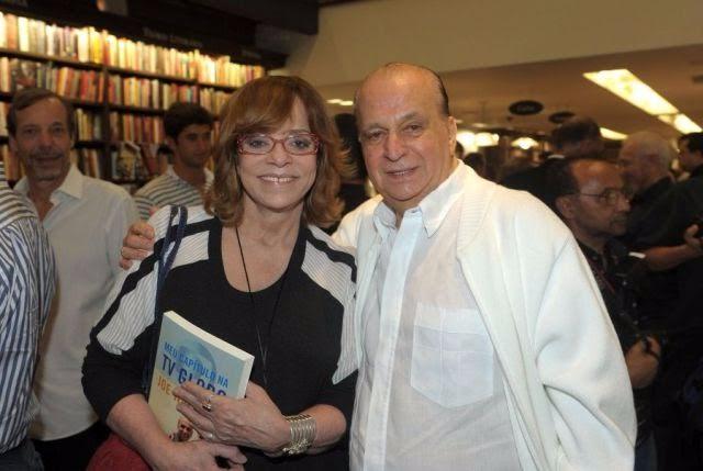 A autora Glória Perez e o executivo Mário Lucio Vaz