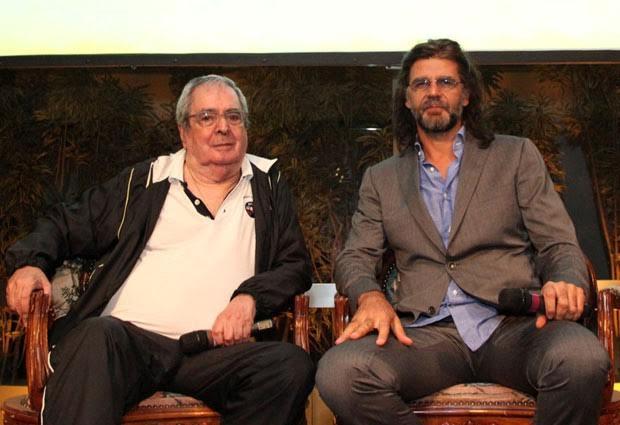O autor Benedito Ruy Barbosa e o diretor Luiz Fernando.