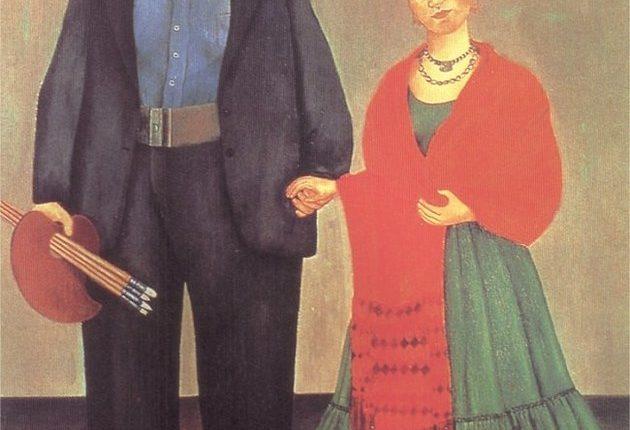 Tela intitulada Frida Kahlo y Diego Rivera (1931)